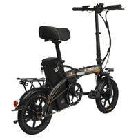 bicicleta de carga de batería al por mayor-Comercio al por mayor 14In Bicicleta Eléctrica Plegable 240 W Motor 48 V 23.4Ah Batería de Litio Pedal Assist E-bike con Puerto de Carga USB