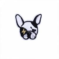 ferro applique cão venda por atacado-Dog Applique Remendo Bordado Iron-on Clothes Decor Para Bag Clothing Hat