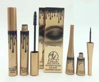 Wholesale Eyeliner Dhl - New Hot Makeup 2 in1 Mascara+Eyeliner Gold box Charming eyes Magic Thick Slim Waterproof Mascara Eyeliner Black DHL Shipping+Gift