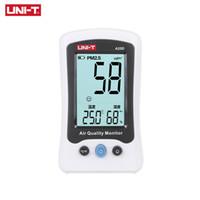 probadores uni al por mayor-UNI-T A25D PM2.5 Testers Medidores de medición de la calidad del aire Detector Auto Range Overload Indication Gas Temperature Humedad Monitor