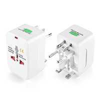 Wholesale travel adapter for sale - All in One Universal International Plug Adapter World Travel AC Power Charger Adaptor with AU US UK EU converter Plug