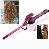 palo mágico de belleza al por mayor-Rizador de cabello de 9 mm Curling Iron Curl profesional para el cabello Planchas Curling Sticks Rodillo de varita Rulos Krultang Magic Care Beauty Styling Tools