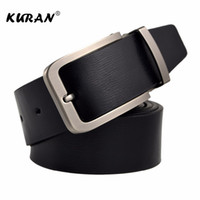 Wholesale narrow trousers - New Designer Belts Men High Quality Luxury Brand Leather Belt Pin Buckle Black Business Trouser Strap Cinturones Hombre Cinto