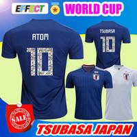 Wholesale japan 18 - JAPAN 2018 TSUBASA Soccer Jerseys Japan World Cup Home ATOM 18 19 Home Away KAGAWA ENDO OKAZAKI NAGATOMO HASEBE KAMAMOTO Football Shirts