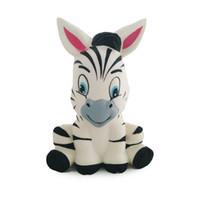cebra animales al por mayor-Zebra Horse Squishy Lento Levantamiento Jumbo Animal Soft Scented Squeeze Toy Charms Pan Cake Kid Antistress Toys Novedad Items13 * 8CM GGA1160