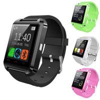 u8 smart watch mate großhandel-U8 Bluetooth Smart Armbanduhr Phone Mate für IOS Android iPhone Samsung mit Einzelhandelsverpackung