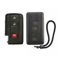 substituição shell chave do carro venda por atacado-Keyless Entry Controle Remoto Reequipamento Rosewood Car Chave Fob Shell Substituição para pruis (W / O Placa de Circuito Da Bateria)