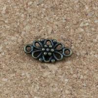 ingrosso connettori di fascino di fiori-Charms connettore 150 pezzi / lotto 8x16mm bronzo antico lega ewelry bracciali fatti a mano F-5