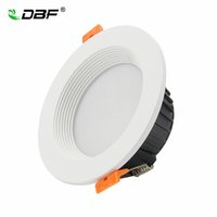 Wholesale 3w Power Led Driver - [DBF]Dimmable 7W 10W 12W LED Panel Down Light High Power SMD 5730 LED Downlight Recessed Ceiling Light Spotlight 220V+Driver