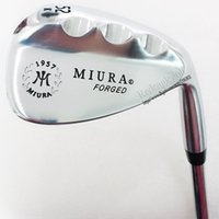 Wholesale Ground Iron - New Golf Clubs Miura K-Grind 1957 FORGED Golf Wedges 52.56.60 Project X 6.0 steel Golf shaft wedges clubs Free shipping