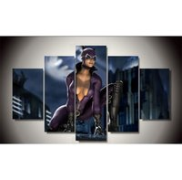 Wholesale paintings ladies figure resale online - Movie Catwoman Rajstopy Lady Pieces Canvas Prints Wall Art Oil Painting Home Decor Unframed Framed