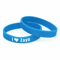 ingrosso un braccialetto d'amore-1PC I love Zayn Silicone Wristband Blue I Love 1 D One Direction Silicone per bracciali Bangles Music Band Fans Regalo SH209