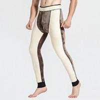 sous-vêtements sexy longs thermiques achat en gros de-Hiver Chaud Hommes Longs Johns Épaisse Laine Sexy Leggings Pantalons Homme Taille Haute Super Froid Temps Thermique Sous-Vêtements