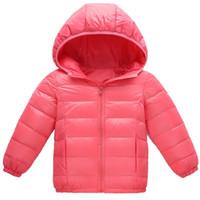roupa das crianças frete grátis venda por atacado-Frete grátis 2018 inverno novos meninos e meninas com roupas infantis luz jaqueta para baixo das crianças