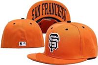 размеры колпачков оптовых-Оптовые новые дешевые гиганты, изготовленные шляпы Бейсбольная кепка Flat-brim Hat Размер команды Бейсбольная кепка Гиганты Классическая ретро-мода