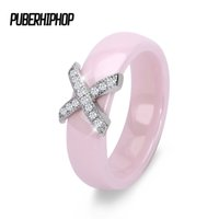 Wholesale Top Beautiful Rings - whole sale2017 New 6mm Light Pink Ring Beautiful Smooth Ceramic Rings For Woman Top Quality Jewelry Without Scratches Woman Ring Wholesale