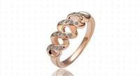 vestido de noivado rosa venda por atacado-Anéis para as Mulheres Alianças de Casamento Vestido Rose Gold Filled Anéis de Noivado Moda Coreano Marcas de Jóias Anéis de Ouro Maçônico