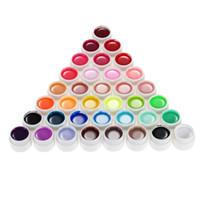 36 geles uv al por mayor-Venta al por mayor 36 colores Nail Gel 8ml Nail Art Glitter UV lámpara Esmalte de uñas Gel Acrílico Constructor Pegamento Sólido Conjunto de larga duración Top Venta NUEVA VENTA