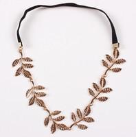ingrosso headpiece della catena dei capelli all'ingrosso-Accessori per capelli a catena a forma di foglia di moda per le donne Fascia per capelli personalizzata in India