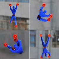 ingrosso il gioco si arrampica muro-Divertente novità appiccicoso parete arrampicata Flip Spiderman Climber Classico Giocattoli per bambini Colore casuale Giocattoli regalo per bambini