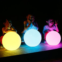 Wholesale Spherical Led Lights - LED glow dome light outdoor waterproof rechargeable glowing ball garden lawn lamp creative landing spherical lamp