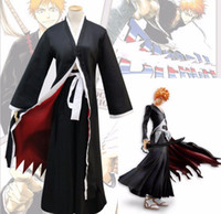 ingrosso ichigo kurosaki cosplay-Anime Bleach Cosplay Costume Kurosaki ichigo Costume Cosplay Costumi di Carnevale di Halloween