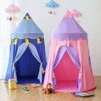 ingrosso giocattolo del castello del bambino-akitoo Tenda per bambini coperta ragazza gioca casa ragazzo giocattolo casa principessa stanza castello bambino casa bambino yurta regali