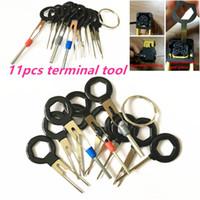 11pcs auto car circuit board plug wire harness terminal extractor pick  connector crimp pin back needle remove car repair tool