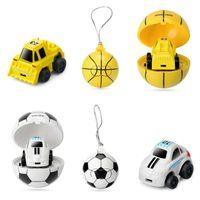 Wholesale control car model online - 2 Colors Cartoon G Mini Soccer Basketball Remote Control Car Athletic Football RC Car Kids Car Model Novelty Items CCA10241