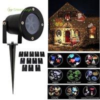 açık renkli çok renkli ışıklar toptan satış-1 ADET Renkli Noel LED Projeksiyon Lambası Açık Su Geçirmez Bahçe Tatil Dekorasyon Için 12 Desenler Peyzaj Çim Spike Işıkları