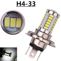 Wholesale h4 led yellow - H4 H7 33 SMD 5630 5730 Car Led Signal Lights Fog Lamps Daytime Running Light 33SMD Auto Rear Reverse Bulbs White
