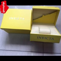 Wholesale Outdoor Modern - AAA outdoor sports men's invicta watch Box INVICTA case original Wooden materials top brand invicta watches