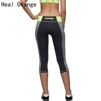 ingrosso calze donna arancione-All'ingrosso-HEAL ORANGE 2017 Fitness Donna Running Tights Sport Push-Up Elastic Sport Pantaloni Donna Pantaloni sportivi Pantaloni da corsa Palestra
