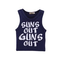 Wholesale baby christmas top - Mikrdoo Summer Fashion Baby Boy Clothes Sleeveless Letter Printed Vest Top Toddler Cotton Casual Clothing For 0-18M