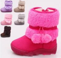 Wholesale Children s shoes winter classic cotton shoes soft bottom non slip warm snow boots for different colors