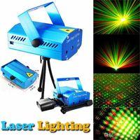 ingrosso black light-Prezzo di fabbrica 150mW GreenRed Laser Blu / Nero Mini Laser Stage Lighting DJ Party Stage Light Discoteca Dance Floor Lights