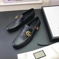ingrosso scarpe con poca punta-Marchio di alta qualità Formali scarpe eleganti per gli uomini delicati Scarpe in vera pelle nera Piccola punta delle api Business Oxfords Business scarpa in pelle
