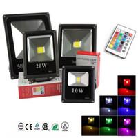 açık hava rgb sel toptan satış-RGB / Sıcak / Soğuk Beyaz LED Projektör cob 10 W 20 W 30 W 50 W LED Taşkın Işık Açık LED Flood Aydınlatma