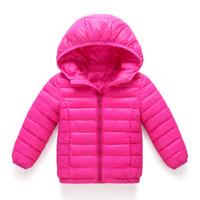 Wholesale kid boys parka - children jacket Outerwear Boy and Girl autumn Warm Down Hooded Coat teenage parka kids winter jacket Size 3-11 years