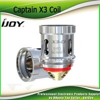 Wholesale Captain Wholesale - Authentic Ijoy Captain X3 Coil Head X3 C1 0.4ohm C3 0.2ohm Core Replacement Coils for Captain X3 Tank Kit Atomizer 100% Genuine