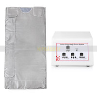 Wholesale far infrared weight loss blanket resale online - 3 Zone Far Infrared Lymph Drainage Body Slimming Sauna Blanket Weight Loss Detox Heating Spa Machine
