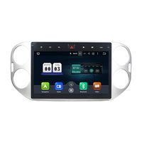 rádio tiguan venda por atacado-Leitor de DVD Carro para Volkswagen Tiguan 2015 Octa 10.1 polegada Andriod 8.0 com GPS, controle de volante, Bluetooth, rádio