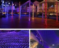 iluminação lanternas céu venda por atacado-Luzes LED, 2 * 3 redes, redes de pesca, estrelas do céu, lanternas de gramado, festivais, casamentos, luzes de Natal e decoração impermeável ao ar livre.