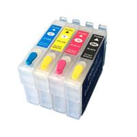 lápiz de impresora al por mayor-Cartuchos de tinta rellenables 413 / T1351 + T1332 + T1333 + T1334 vacíos para impresora Stylus T25 TX125 TX135 con chips de restablecimiento automático