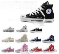 Wholesale Navy Blue Chucks - 2018 New star big Size 35-45 High top Casual Shoes Low top Style sports stars chuck Classic Canvas Shoe Sneakers Men's Women's Canvas Shoes.