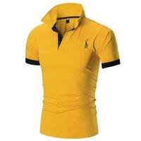 broderie multicolore achat en gros de-Mens Designer Polo Shirts Été Marque Polos Pour Hommes Solide Couleur Motif De Broderie De Luxe T Chemises Fashon Style Respirant Tops Asiatique Taille