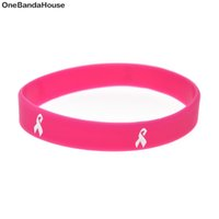Wholesale daily wear - Wholesal 100PCS Lot Adult Size Cancer Ribbon Silicone Wristband Great for Daily Reminder By Wearing This Bracelet