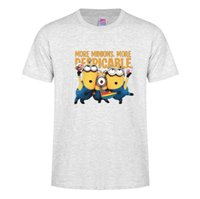 Wholesale purple black guitar - Minion shirts funny cartoon t shirt guitar minions t shirt cotton casual mens women summer tops cute shirts tee shirt D20