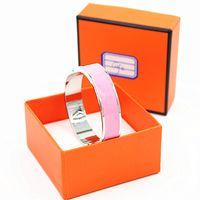 Wholesale h cuff bracelet - 12mm Luxury Cuff Bracelets&Bangles Wristband Enamel Bracelet Silver H Buckle Top quality Bracelets For Women YX015