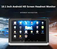 sintonizador de tv hdmi al por mayor-Reproductor de monitor de reposacabezas de DVD de coche de Android 6.0 nuevo 10.1 pulgadas de video HD 1080P con transmisor de WIFI / HDMI / USB / SD / Bluetooth / FM